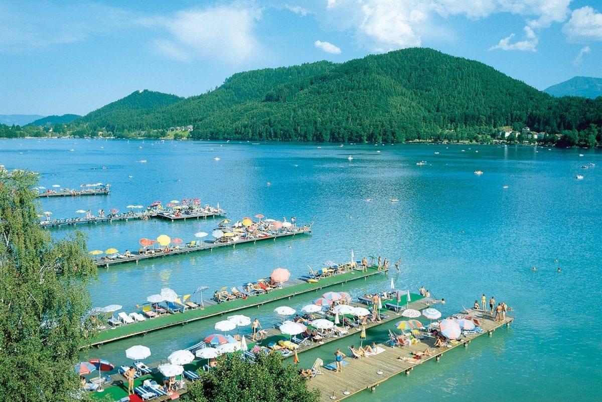 Luftaufnahme-Stege © Tourismusregion Klopeiner See - Südkärnten, www.klopeinersee.at