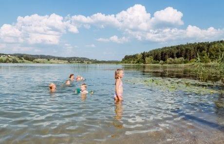 Familienfreundlicher Strand am Turnersee Ferienwohungen Katharina Jernej