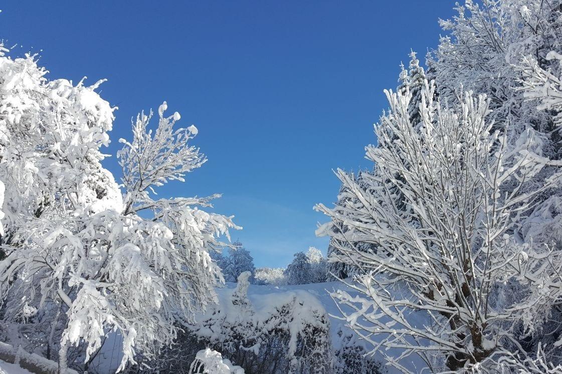 Winter in Eisenkappel in Kärnten Ferienwohnungen Jernej Katharina Südkärnten