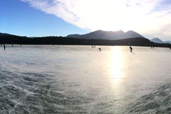 Eislaufen am Turnersee in Kärnten Ferienwohnungen Jernej Katharina